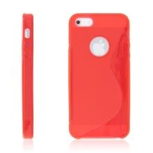 Protiskluzový ochranný kryt S line pro Apple iPhone 5 / 5S / SE - červený