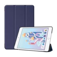 Pouzdro pro Apple iPad mini 4 / mini 5 - stojánek + funkce chytrého uspání - umělá kůže - tmavě modré