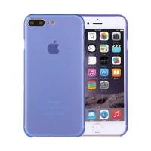 Kryt / obal pro Apple iPhone 7 Plus / 8 Plus ochrana čočky - plastový / tenký - modrý