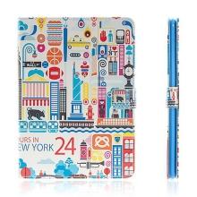 Pouzdro + integrovaný stojánek pro Apple iPad Air 2 - barevný New York