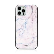 Kryt BABACO pro Apple iPhone 12 / 12 Pro - skleněný - růžový mramor