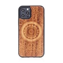 Kryt pro Apple iPhone 12 / 12 Pro - mandala - MagSafe kompatibilní - umělá kůže / dřevěný - kávově hnědý