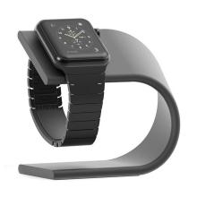 Stojánek pro Apple Watch 38 / 42mm, series 1 / 2 - hliníkový - černý