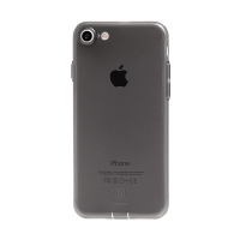 Kryt Baseus pro Apple iPhone 7 / 8 gumový / antiprachové záslepky - černý průhledný