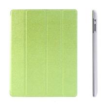 Pouzdro + Smart Cover pro Apple iPad 2. / 3. / 4.gen. - zelené průhledné - elegantní textura