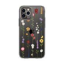 Kryt SPIGEN Cecile pro Apple iPhone 12 / 12 Pro - plastový / gumový - květinové provazce