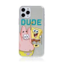 Kryt Sponge Bob pro Apple iPhone 11 Pro Max - gumový - Sponge Bob s Patrikem