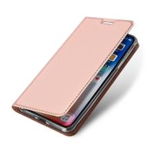 Pouzdro DUX DUCIS pro Apple iPhone Xs Max - stojánek + prostor pro platební kartu - Rose Gold