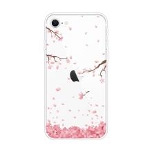 Kryt pro Apple iPhone 7 / 8 / SE (2020) - gumový - kvetoucí sakury
