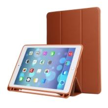 """Pouzdro / kryt pro Apple iPad Pro 12,9"""" / 12,9"""" (2017) - prostor pro Apple Pencil - umělá kůže - hnědé"""