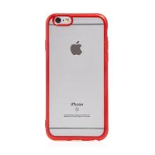 Kryt FORCELL Electro Matt pro Apple iPhone 6 / 6S - gumový - průhledný / červený