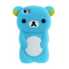 Kryt pro Apple iPhone 5 / 5S / SE - silikonový - medvěd - modrý