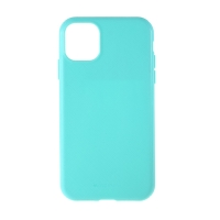 Kryt MERCURY Style Lux pro Apple iPhone 11 - látková textura - gumový - tyrkysový