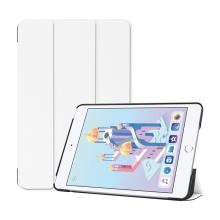 Pouzdro pro Apple iPad mini 4 / mini 5 - stojánek + funkce chytrého uspání - umělá kůže - bílé