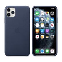Originální kryt pro Apple iPhone 11 Pro Max - kožený - půlnočně modrý