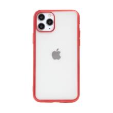 Kryt FORCELL Electro Matt pro Apple iPhone 11 Pro Max - gumový - průhledný / červený