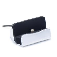 Dock / Dokovací stanice pro Apple iPhone - konektor Lightning - stříbrná
