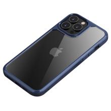 Kryt IPAKY pro Apple iPhone 13 Pro Max - plastový / gumový - průhledný / modrý