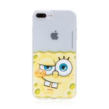 Kryt Sponge Bob pro Apple iPhone 7 Plus / 8 Plus - gumový - potutelný Sponge Bob