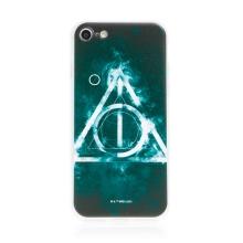 Kryt Harry Potter pro Apple iPhone 7 / 8 / SE - gumový - Relikvie smrti - černý
