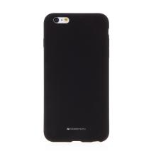 Kryt MERCURY pro Apple iPhone 6 Plus / 6S Plus - silikonový - příjemný na dotek - černý