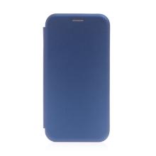 Pouzdro pro Apple iPhone 13 Pro - umělá kůže / gumové - tmavě modré