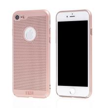 Kryt MOFi pro Apple iPhone 7 / 8 / SE (2020) - perforovaný / s otvory - plastový - Rose Gold