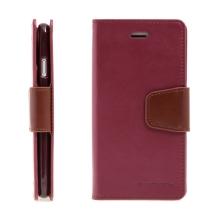 Pouzdro Mercury Sonata Diary pro Apple iPhone 7 / 8/ SE (2020) - stojánek a prostor na doklady - vínové