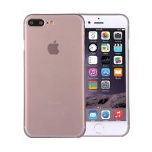 Kryt / obal pro Apple iPhone 7 Plus / 8 Plus ochrana čočky - plastový / tenký - šedý