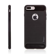 Kryt IPAKY pro Apple iPhone 7 Plus / 8 Plus gumový / výřez pro logo - černý