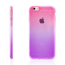 Kryt pro Apple iPhone 6 Plus / 6S Plus gumový tenký - fialový / růžový