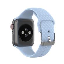Řemínek pro Apple Watch 41mm / 40mm / 38mm - 3D textura - silikonový - modrý