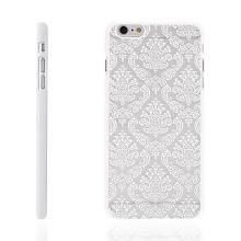 Kryt pro Apple iPhone 6 Plus / 6S Plus plastový - vzor damašek - bílý