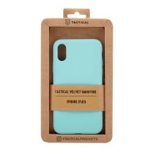 Kryt TACTICAL Velvet Smoothie pro Apple iPhone X / Xs - příjemný na dotek - silikonový - azurově modrý