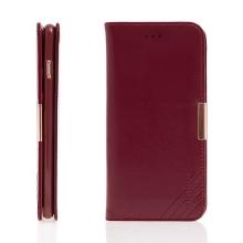 Pouzdro KLD Royale II pro Apple iPhone 6 Plus / 6S Plus kožené - prostor pro osobní doklady a magnetické uzavírání - červené