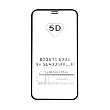 """Tvrzené sklo (Tempered Glass) """"5D"""" pro Apple iPhone 12 / 12 Pro - 2,5D - černý rámeček - čiré - 0,3mm"""