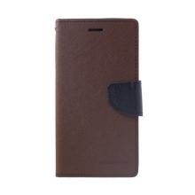 Pouzdro Mercury Fancy Diary pro Apple iPhone Xr - stojánek a prostor na doklady - hnědé / černé