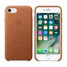 Originální kryt pro Apple iPhone 7 / 8 - kožený - sedlově hnědý