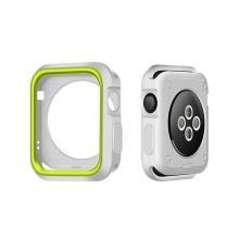 Kryt / rámeček pro Apple Watch 42mm 1 / 2 / 3 series - sportovní - silikonový - šedý / zelený