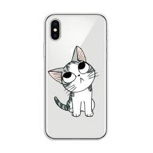 Kryt pro Apple iPhone X / Xs - gumový - vzhlížející kotě