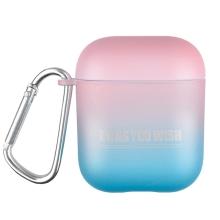 Pouzdro / obal pro Apple AirPods - barevný přechod - plastové - modré / růžové