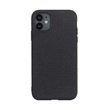 Kryt pro Apple iPhone 12 mini - plastový / umělá kůže - černý