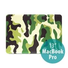 Plastový obal ENKAY pro Apple MacBook Pro 13 - maskáč - zelený