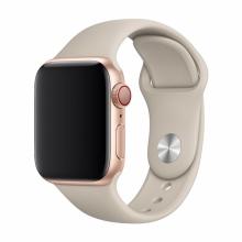 Řemínek DEVIA pro Apple Watch 44mm Series 4 / 5 / 6 / SE / 42mm 1 / 2 / 3 - silikonový - kamenně šedý