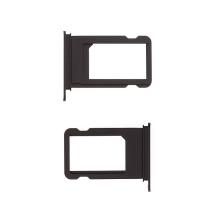 Rámeček / šuplík na Nano SIM pro Apple iPhone 7 - temně černý (Jet Black) - kvalita A+