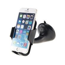 Držák do automobilu s přísavkou pro Apple iPhone a telefony 3.5 - 5.5 - otočný - černý