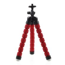 Stativ / tripod pro Apple iPhone - standardní 1/4 závit - ohebné nohy - červený
