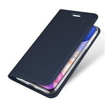 Pouzdro DUX DUCIS pro Apple iPhone 11 - stojánek + prostor pro platební kartu - tmavě modré