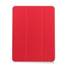 Pouzdro / kryt pro Apple iPad Air 4 (2020) - chytré uspání - držák Apple Pencil - umělá kůže - červené