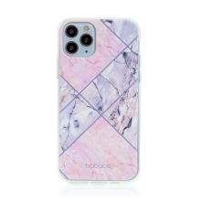 Kryt BABACO pro Apple iPhone 11 Pro - gumový - růžový mramor